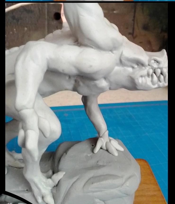 3b Demon METRO 2033. Photo Tutorial on polymer clay