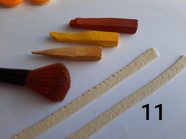 Photo 11. Polymer clay cake tutorial