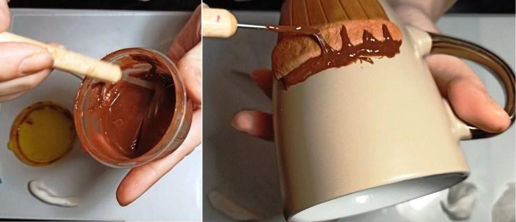 2. Polymer clay tutorial: Cupcake on a mug