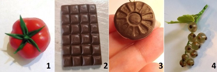 Polymer clay food. Tutorials on polymer clay 1-4