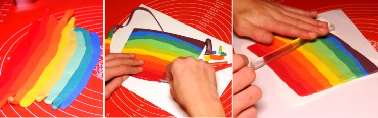 2 Polymer clay cane tutorial - Creation of polymer clay jewelry «Rainbow spiral»