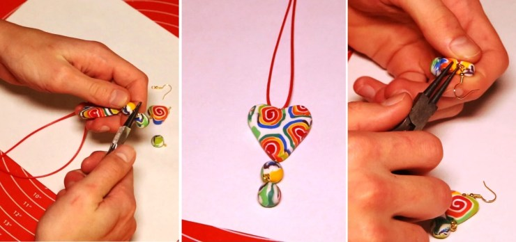 9 Polymer clay cane tutorial - Creation of polymer clay jewelry «Rainbow spiral»
