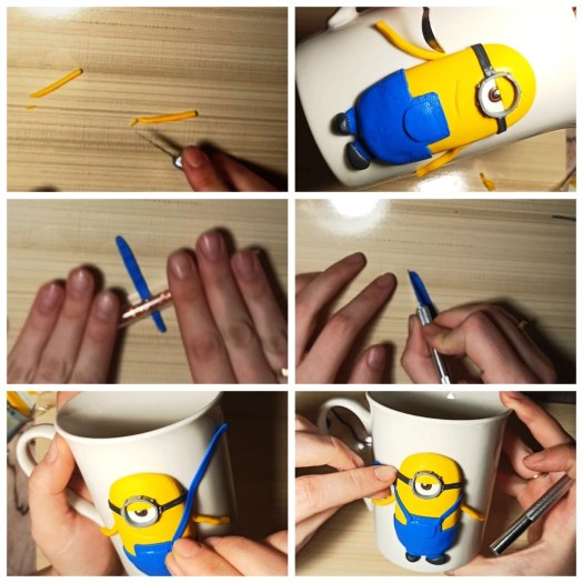 10 Polymer clay tutorial: Minion on a mug