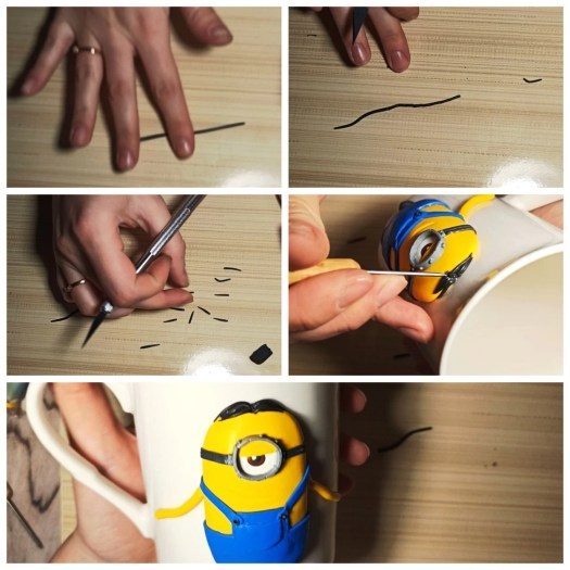 12 Polymer clay tutorial: Minion on a mug