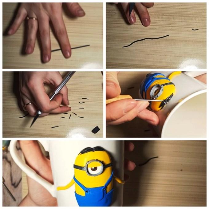 12 Polymer clay tutorial: Minion on a mug
