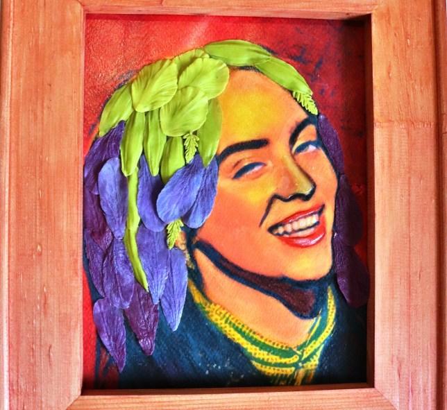 3D Portrait Billie Eilish from polymer clay