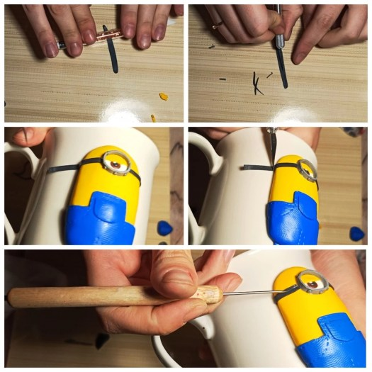 7 Polymer clay tutorial: Minion on a mug