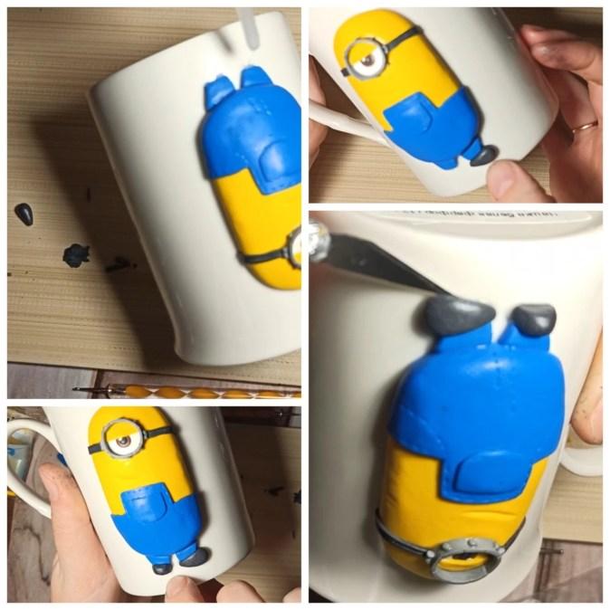 9 Polymer clay tutorial: Minion on a mug