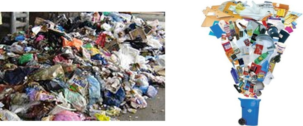 medium resolution of  of the preliminary stage of sorting of municipal solid waste msw to separate a fraction that is similar in composition to single stream recyclable