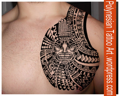 Polynesian Chest Tattoo Designs