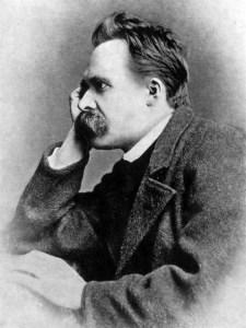 Der Gründung des Deutschen Reiches 1871 steht Nietzsche sehr skeptisch gegenüber. Der geborene Preuße stirbt 1900 als Staatenloser in der Schweiz. Bild: Nietzsche by Walter Kaufmann, Princeton Paperbacks, Fourth Edition. ISBN 0-691-01983-5/Wikimedia