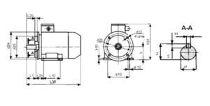 размеры электродвигателей