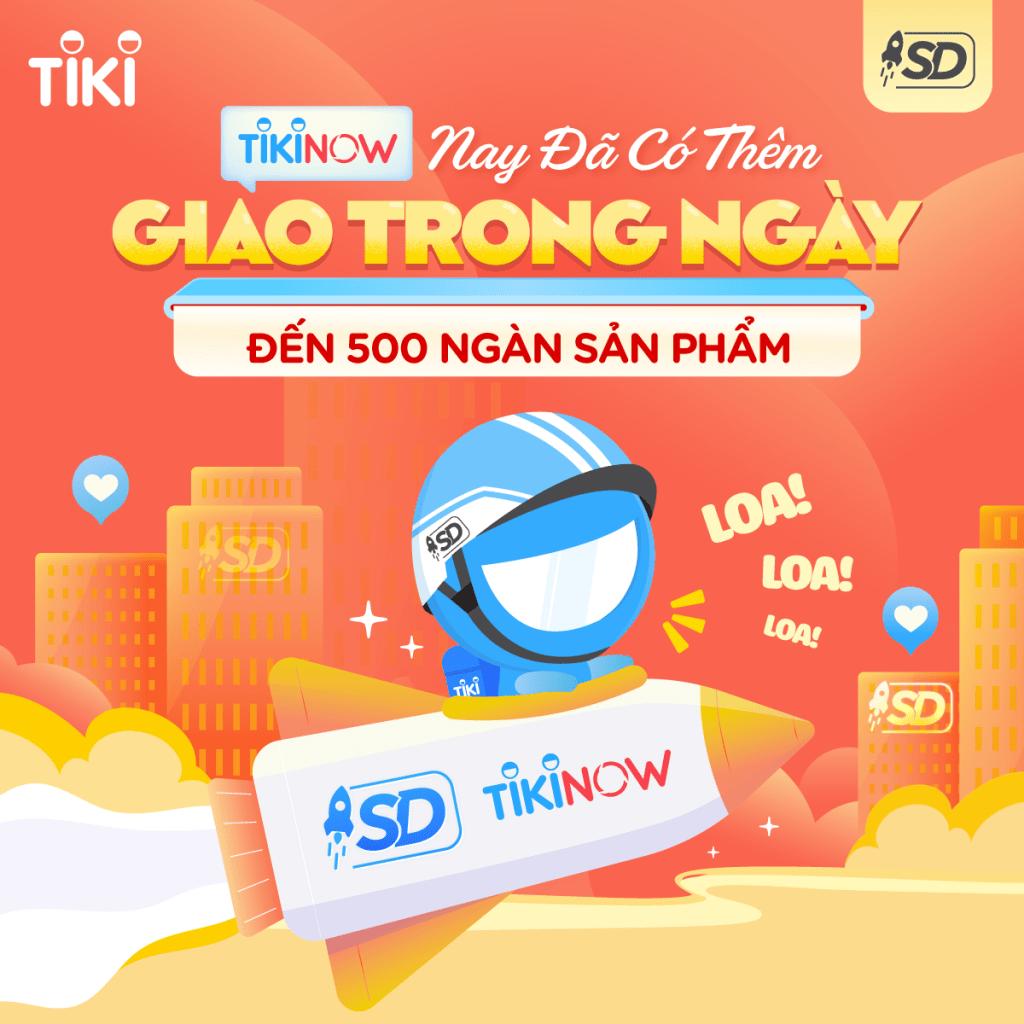 TIKINOW hỗ trợ giao hàng trong ngày các đơn hàng trước 13h tại Đà Nẵng Hồ Chí Minh Hà Nội (Source: Tiki)