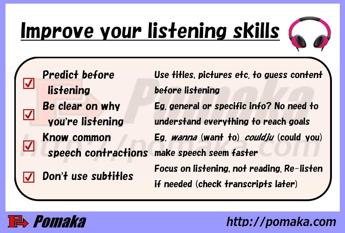 Tips For Improving Your Listening Skills Pomaka