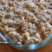 sweet potato casserole w/pecans
