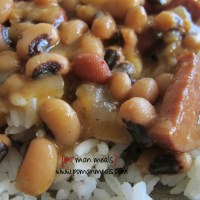 cajun black-eyed pea stew with sausage