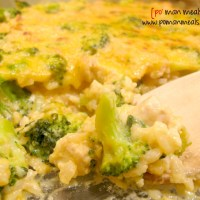 cheesy chicken, rice and broccoli casserole