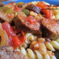 slow cooker italian sausage with peppers and onions