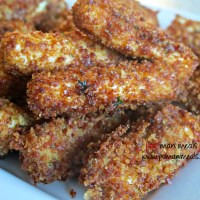 crispy bacon crusted mozzarella cheese sticks