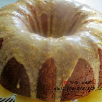 buttermilk pound cake with orange glaze