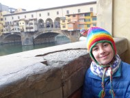Happy to be by the Arno River.