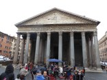 We visit the Pantheon with our fellow travelers.
