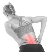 Female with pain back pain