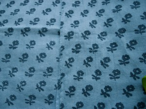 Laura Ashley blue cotton print