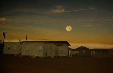 Night moon on Sanxai Plateau.