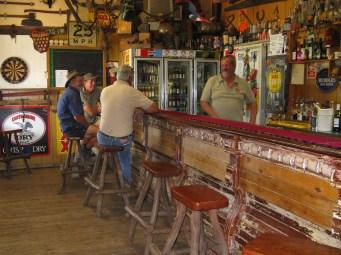 Inside Rudds Pub notice all the memorabilia
