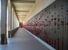 Memorial wall of all the men and women killed in the wars