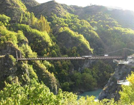 Bungy jumping from the Kawarau river bridge