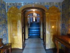 Impressive entrance to the commandant's house