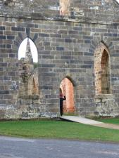 The ruins of the Catholic church