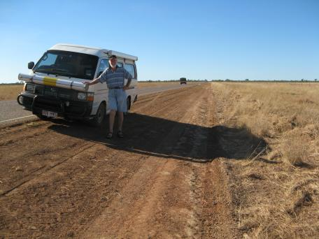 Long dusty outback roads
