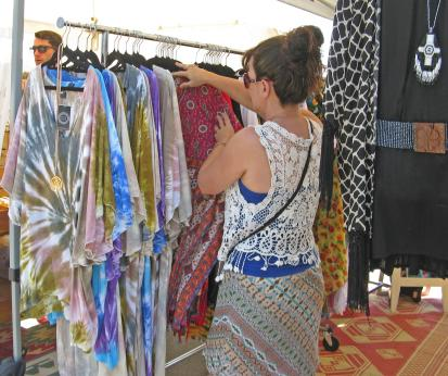 Locally designed and made fashions to be found.