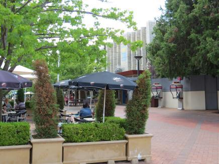 Central shady shopping precinct