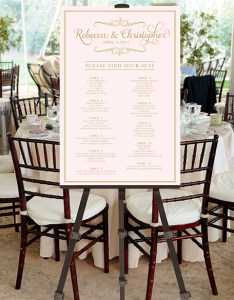 Printable wedding seating chart blush pink  gold also table assignment guests poster sign rh pompcreative