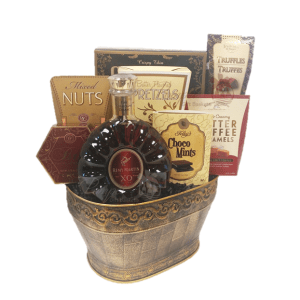 French Excellence Cognac Gift Basket, Remy Xo Gift Basket, Engraved Remy Gift Basket, High End Remy Basket, Free shipping Remy basket, Remy Martin Gifts, Father's Day Cognac Gifts, Cognac Gift Baskets