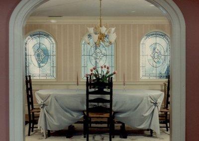 Beveled Glass Dining Room Windows