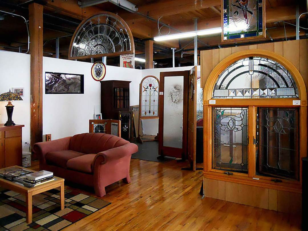Pompei Stained Glass Studio Showroom - Western Avenue Studios Lowell, MA