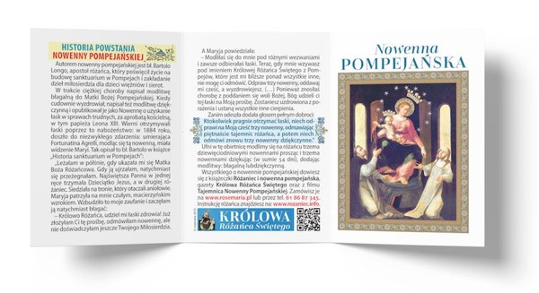Obrazek z nowenną pompejańską