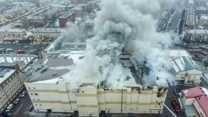 ?? Kemerovo : L'incendie d'un centre commercial provoque la mort de 64 personnes