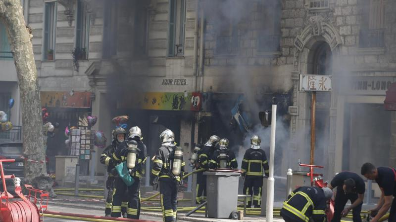 ?? Nice (06) : Incendie dans un magasin du centre-ville, un pompier grièvement blessé