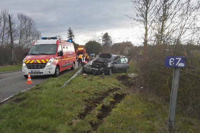 🇫🇷 Auxy (45) : Partis pour intervenir sur une sortie de route, les pompiers ont eux aussi été victimes d'un accident de la circulation