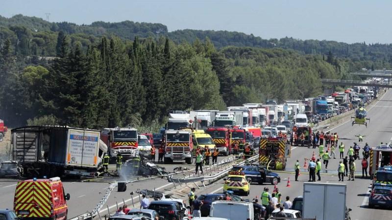 ?? Vedène (84) : 3 morts et 4 blessés dans un terrible accident sur l'A7