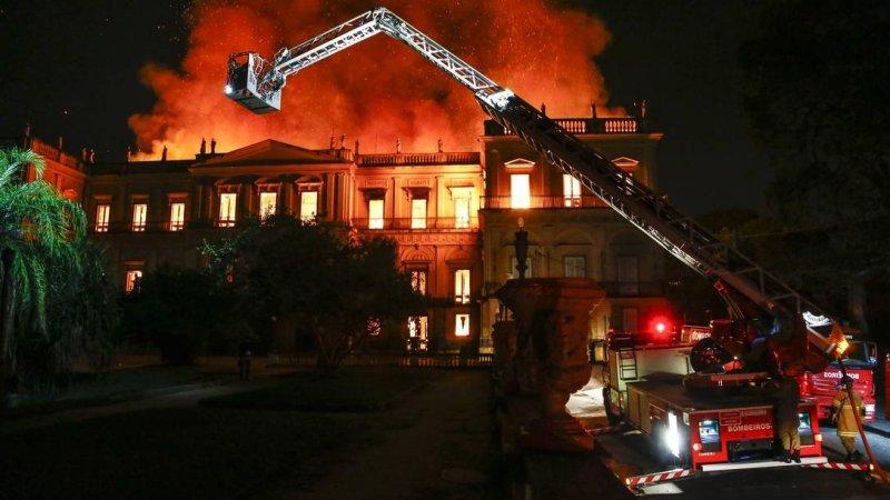 ?? Rio : Incendie au Musée national