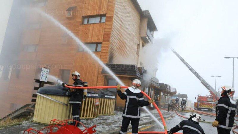 🇫🇷 Orcières Merlette (05) : Une résidence touristique en flammes