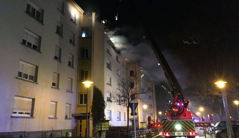 🇫🇷 Mulhouse (68) : Un immeuble en feu, de nombreuses évacuations