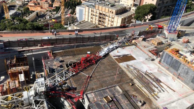 🇲🇨 Monaco : Une grue s'effondre sur un chantier